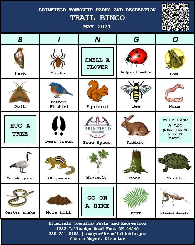 April Parks bingo board
